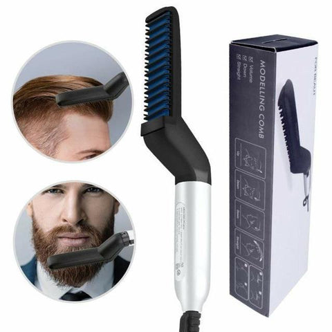 (New Year Promotion- 50% OFF Today! ) Multifunctional Hair Comb Beard Straightener