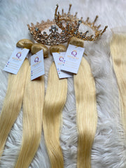 4 Queen's Brazilian 613(Blonde) Blonde hair bundles (Hair Extension)