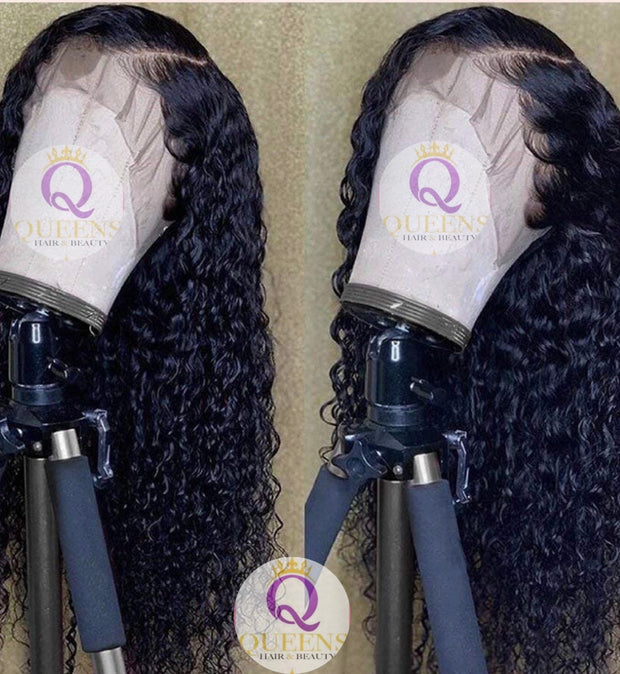Queen's Brazilian Water Wave Human Hair 13x4 Frontal Lace Wig