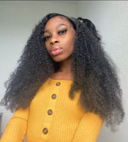 Brazilian Kinky Curly Human Hair Bundles hair extensions with Frontal