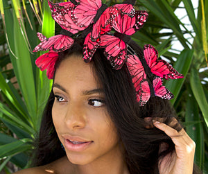 Willa Pink Butterfly Headpiece