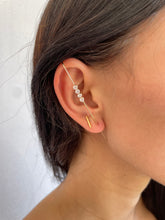 Load image into Gallery viewer, Star Cross Bar Earring