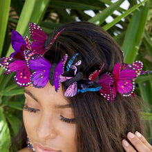 Load image into Gallery viewer, Butterfly Crown, Butterfly Fascinator, Butterfly Headpiece