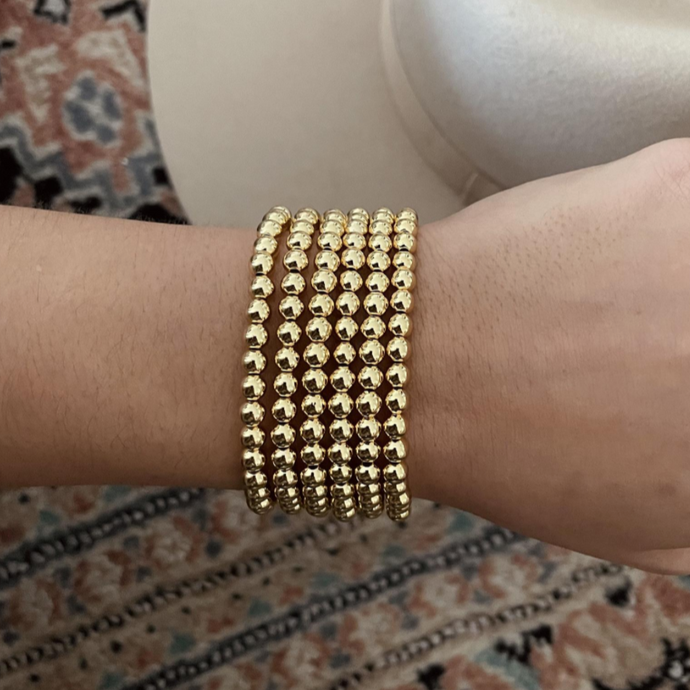 NEW 5mm Gold Bead Bracelet