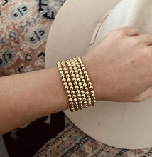 Load image into Gallery viewer, NEW 5mm Gold Bead Bracelet