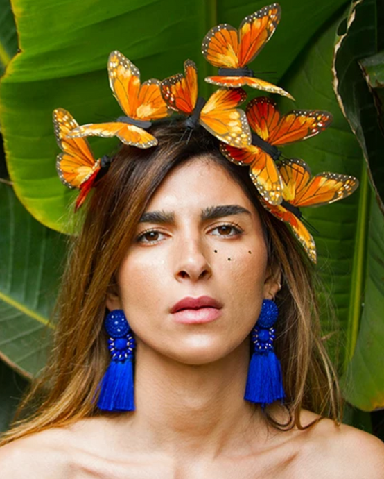 Orange Flutter Butterfly Headpiece