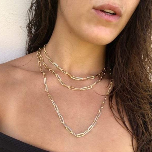 paperclip link link chain necklace trending link necklace