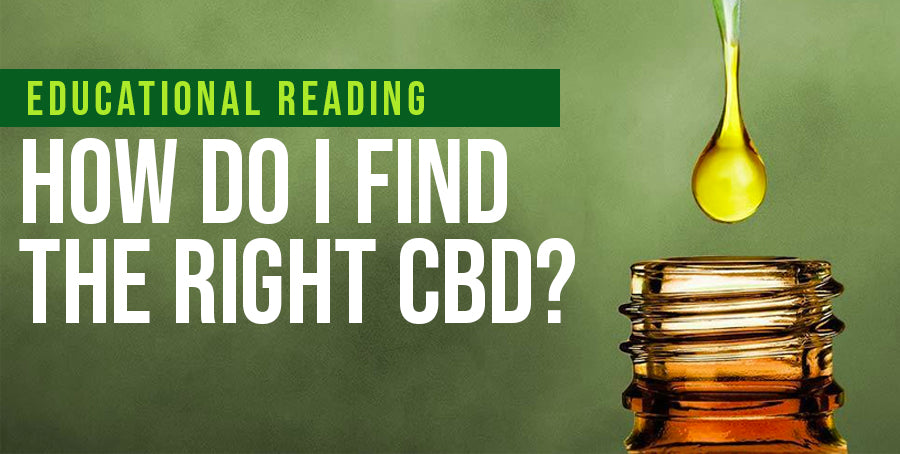 How Do I Find The Right CBD?
