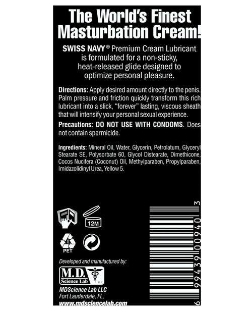 Swiss Navy Premium Masturbation Cream - 5 Oz Tube