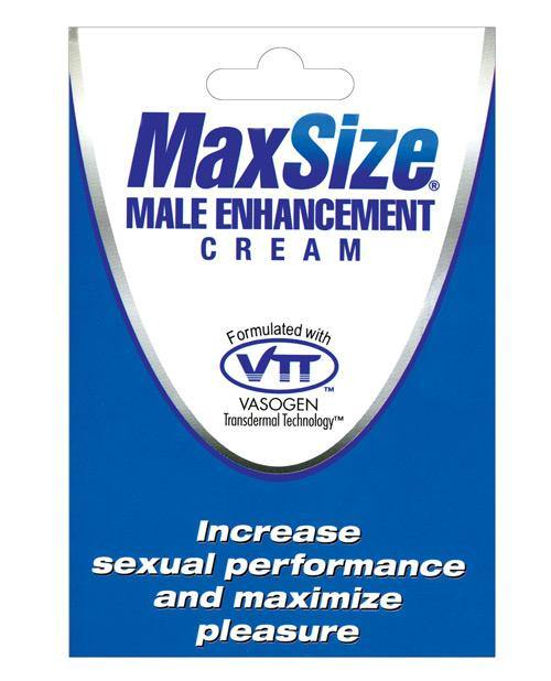 Max Size Male Enhancement Cream - Individual Foil Packet - SEXYEONE
