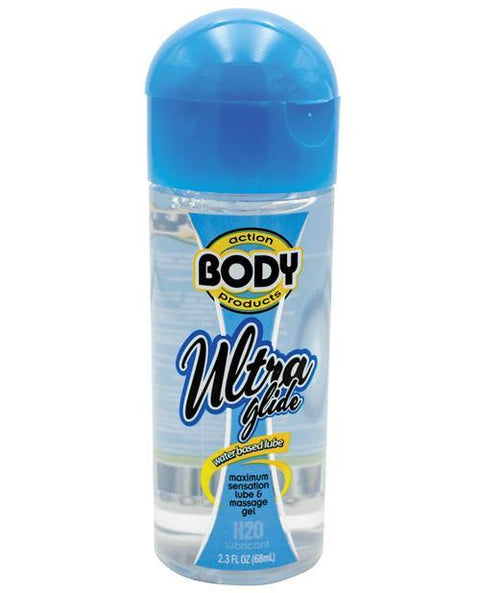 Body Action Ultra Glide Water Based - 2.3 Oz Bottle