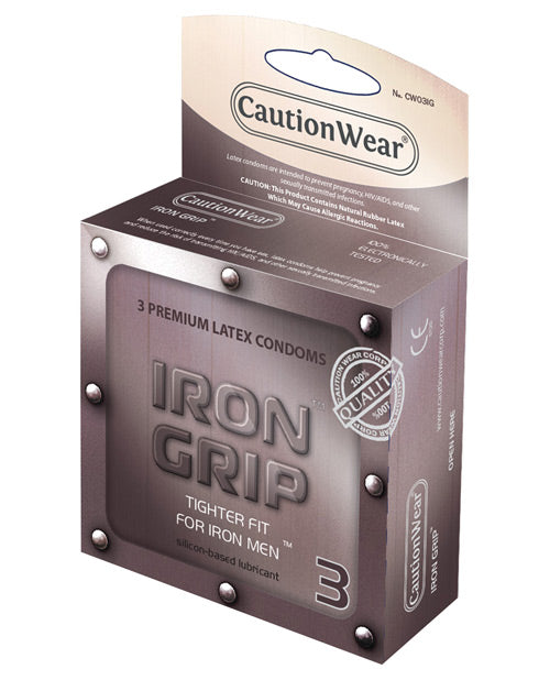 Caution Wear Iron Grip Snug Fit - Pack Of 3 - SEXYEONE