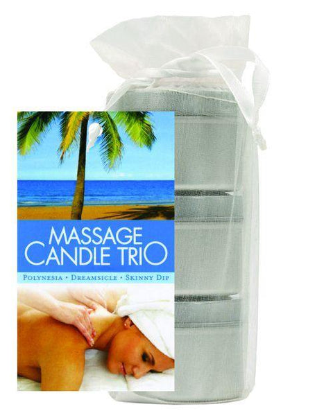 Earthly Body Massage Candle Trio Gift Bag - 2 Oz Skinny Dip, Dreamsicle, & Guavalva