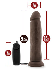 "Blush Dr. Skin Dr. Throb 9.5"" Cock W-suction Cup - Chocolate"