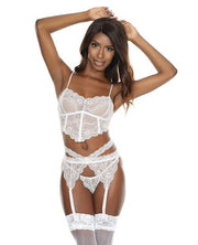 """Scallop Stretch Lace Long Line Soft Cup Bra"