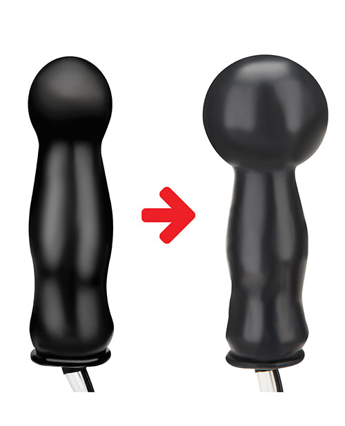 "Lux Fetish 4.5"" Inflatable Vibrating Plug - Black"
