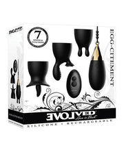 Evolved Egg Citement Rechargeable Bullet - Black-gold