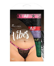 Vibes Af 3 Pack Thongs Assorted Colors Qn - SEXYEONE