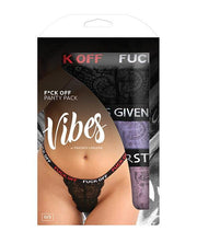 Vibes Fuck 3 Pack Thongs Assorted Colors O-s - SEXYEONE