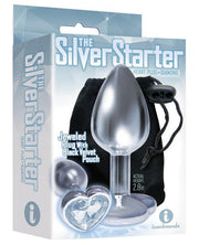 The 9's The Silver Starter Bejeweled Heart Stainless Steel Plug -