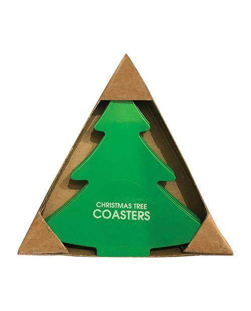 Christmas Tree Stainless Steel Coasters (dishwasher Safe) - Pack Of 4