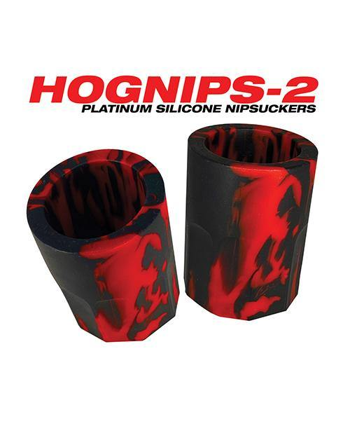 Oxballs Hognips 2 Nipple Suckers - Red-black
