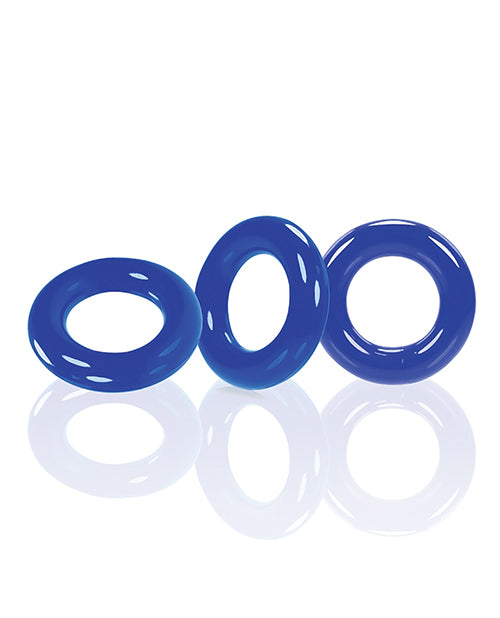 Oxballs Willy Rings - Blue Pack Of 3 - SEXYEONE