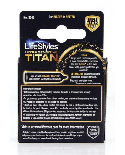 Lifestyles Ultra Sensitive Titan - Pack Of 3 - SEXYEONE