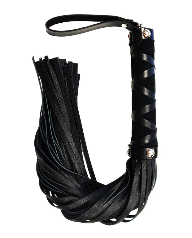 Rouge Short Leather Flogger W-studs