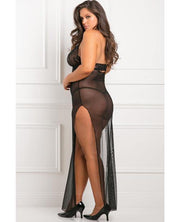 Rene Rofe All Out 2 Pc Gown Set Black 1x-2x - SEXYEONE