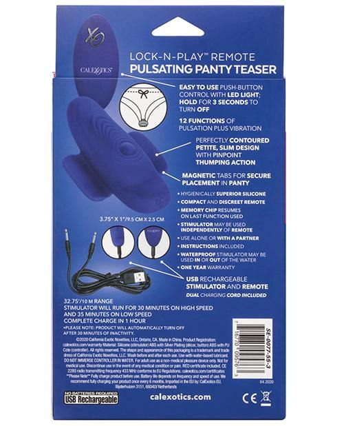 Lock N Play Remote Pulsating Panty Teaser - Purple