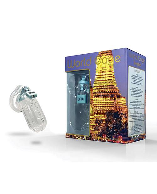 World Cage Bangkok Male Chastity Kit - Large 105 Mm X 40 Mm