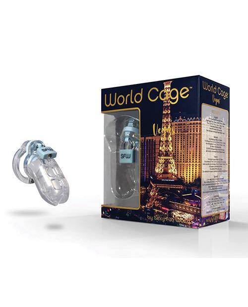 World Cage Vegas Male Chastity Kit - Medium 85 Mm X 38 Mm