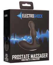 Shots Electroshock E-stimulation Vibrating Prostate Massager - Black