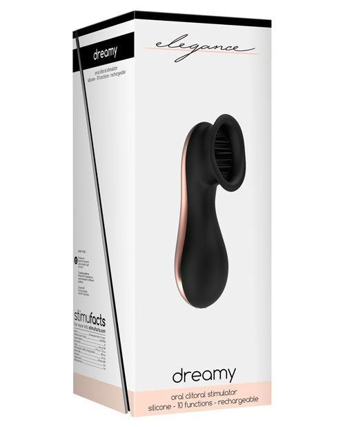 Shots Elegance Dreamy Oral Clitoral Stimulator - 10 Speed Black - SEXYEONE