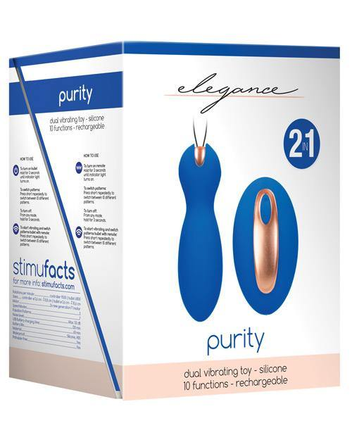 Shots Elegance Dual Vibrating Bullet & Remote - Blue