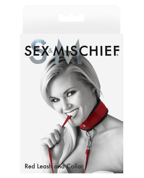 Sex & Mischief Leash & Collar - Black