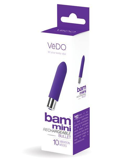 Vedo Bam Mini Rechargeable Bullet Vibe - Turquoise