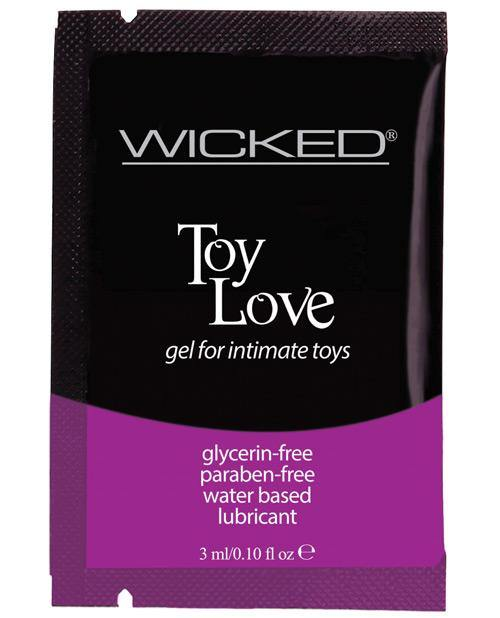 Wicked Sensual Care Toy Love Water Based Lubricant - .1 Oz Fragrance Free
