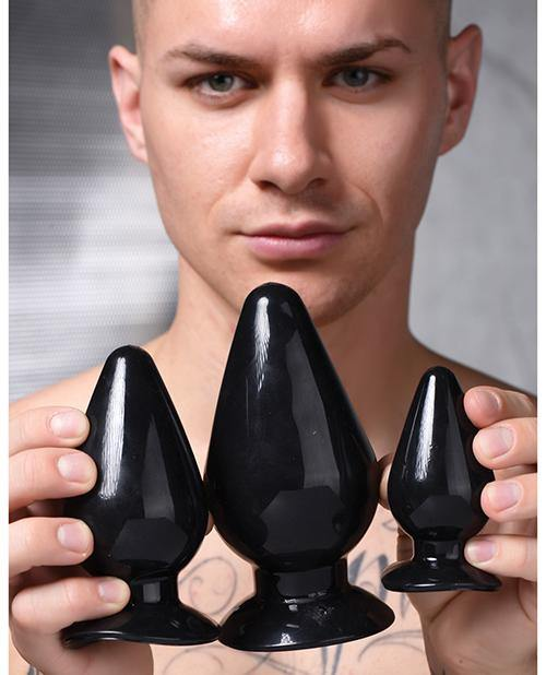 Master Series Triple Anal Plug - Black Set Of 3