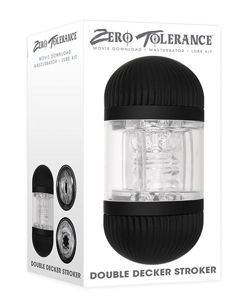 Zero Tolerance Double Decker Stroker - Black-clear