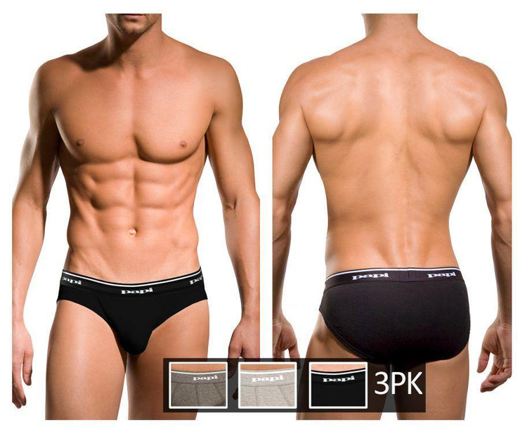 3PK 1X1 Rib Low Rise Brief