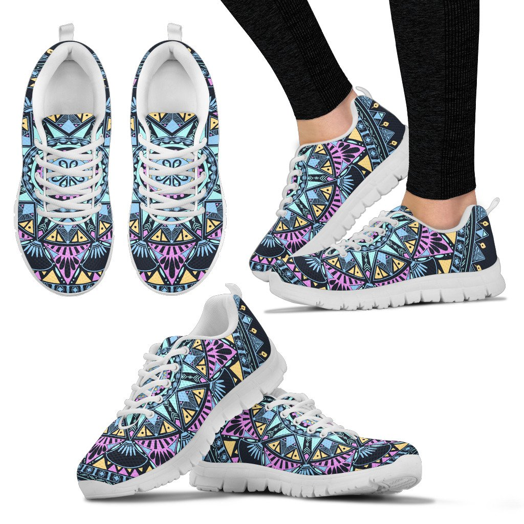 Blue Mandala Women`s Sneakers - Clicksstars
