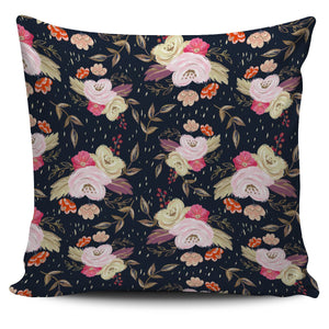 Autumn Fall Floral - Single Sided Pillow Cover - Clicksstars