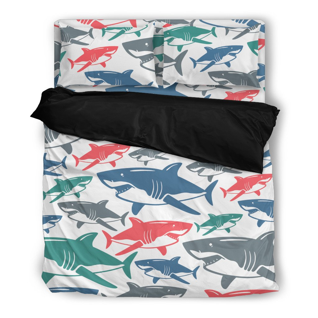 Shark Pattern Bedding Set - Clicksstars