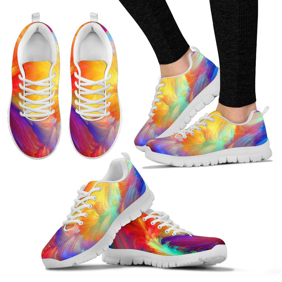 Colorful Psychedelic Art HandCrafted Sneakers. - Clicksstars