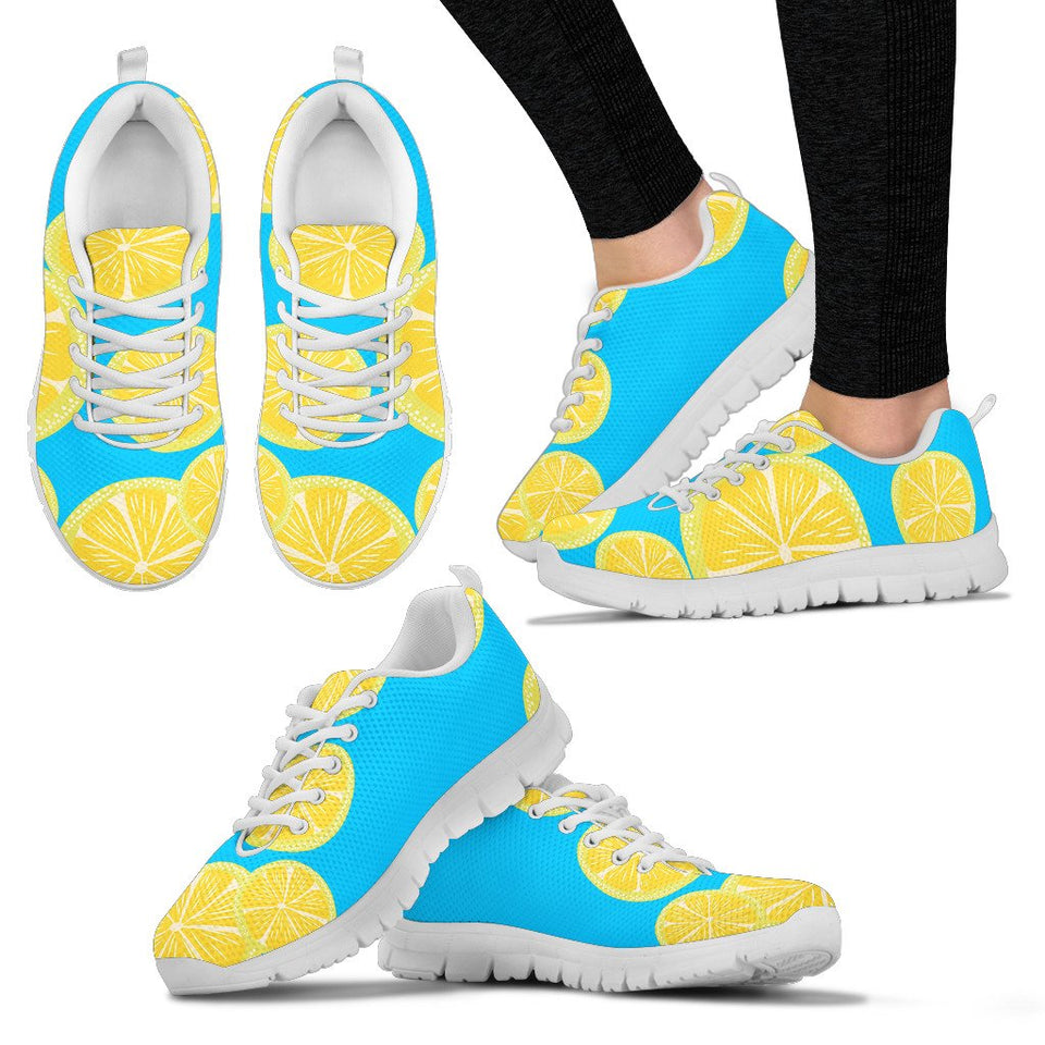 "Women's sneakers ""Lemons"" (on light) - Clicksstars"