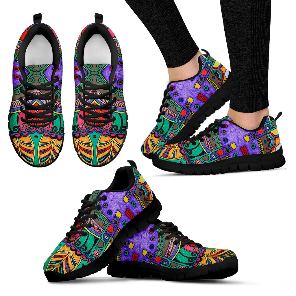 Colorful HandCrafted Artistic Mandala Sneakers - Clicksstars