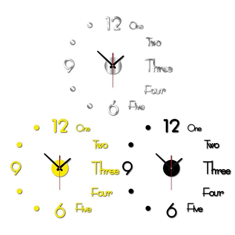 3D WALL STICKER CLOCK - Clicksstars
