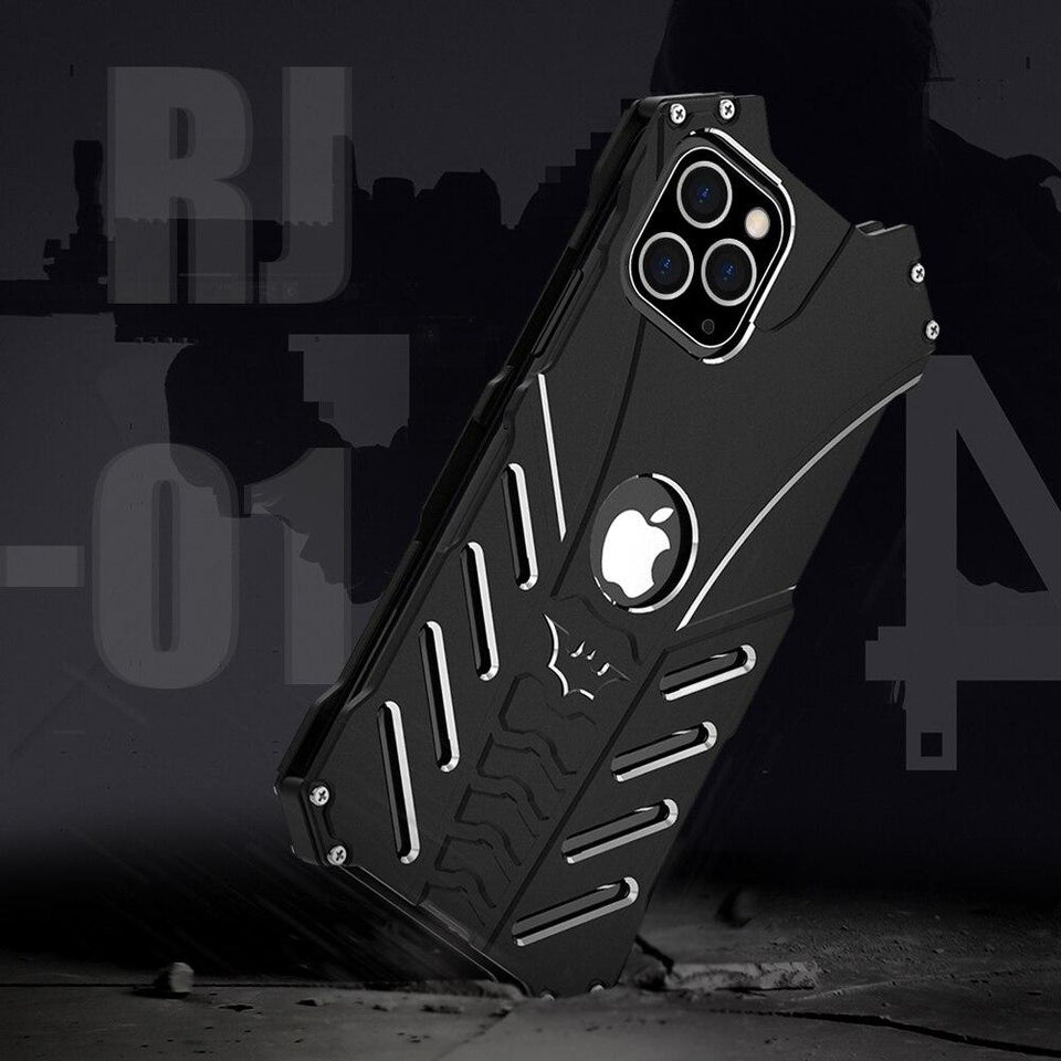 METAL SLIM SHOCKPROOF RUGGED MILITARY ALUMINUM CASE FOR IPHONE - Clicksstars